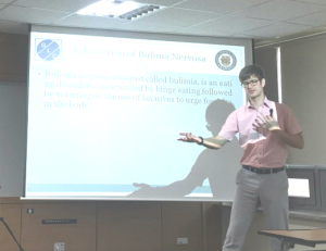 "Prof. Alaric Naude of Global Listening Centre doing presentation to nurses on, ""Listening to patients of eating disorders"" at Suwan Science College South Korea."