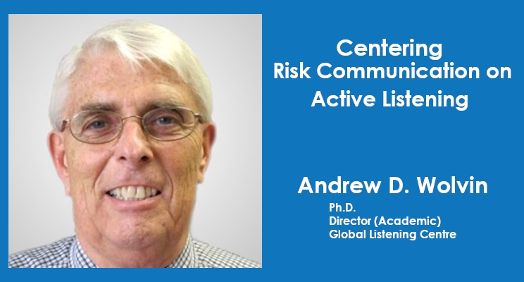 Centering Risk Communication on Active Listening